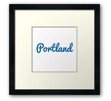 Portland - LIGHT BLUE Framed Print