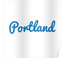Portland - LIGHT BLUE Poster