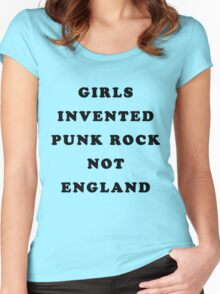 GIRLS INVENTED PUNK ROCK Women's Fitted Scoop T-Shirt