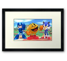 Super Smash Bros. Megaman, Pac-man, and Sonic Framed Print