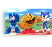 Super Smash Bros. Megaman, Pac-man, and Sonic Canvas Print