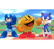 Super Smash Bros. Megaman, Pac-man, and Sonic Photographic Print