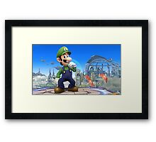 Super Smash Bros. Luigi Framed Print