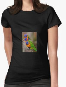 rainbow lorikeets Womens Fitted T-Shirt