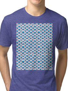 abstract waves pattern Tri-blend T-Shirt