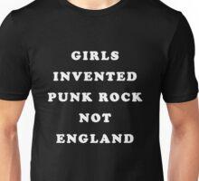 GIRLS INVENTED PUNK ROCK (white) Unisex T-Shirt