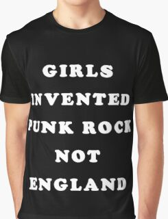 GIRLS INVENTED PUNK ROCK (white) Graphic T-Shirt
