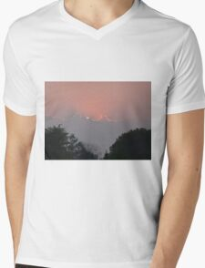 Sunset and clouds Mens V-Neck T-Shirt