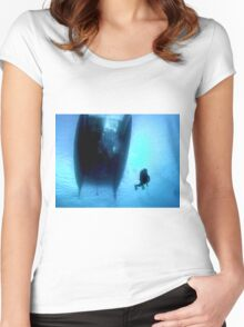 Blue Water Dreaming Women's Fitted Scoop T-Shirt