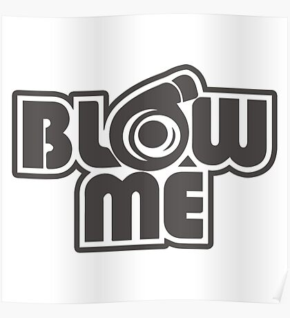 turbo blow me black Poster
