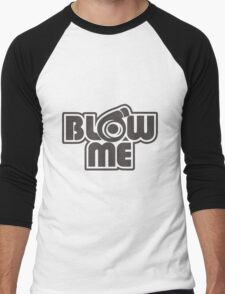 turbo blow me white Men's Baseball ¾ T-Shirt