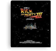 BTTF Style Rick And Morty Season 3 Poster Canvas Print