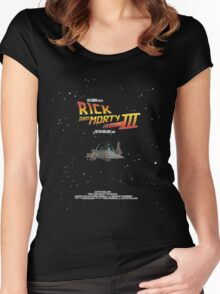 BTTF Style Rick And Morty Season 3 Poster Women's Fitted Scoop T-Shirt