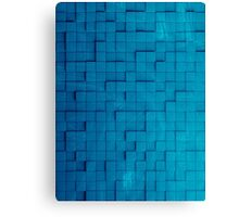 Pixel pattern blue Canvas Print