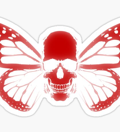 Butterfly Skull Sticker