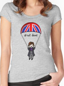 Sherlock with Parachute  Women's Fitted Scoop T-Shirt