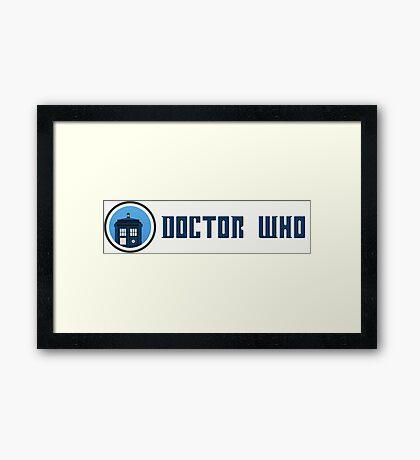 Doctor Who - Logo Framed Print