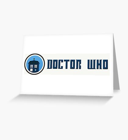 Doctor Who - Logo Greeting Card