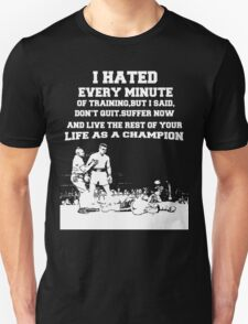 boxing quotes Unisex T-Shirt