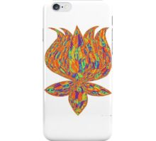 lotus psychedelic iPhone Case/Skin