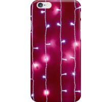 Blurred image of a bright red wall iPhone Case/Skin