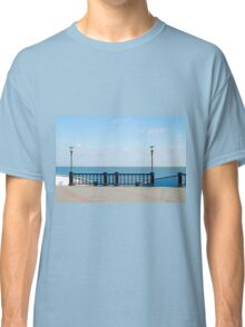 View of the embankment of the lake with lanterns lighting Classic T-Shirt