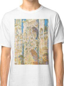 1894-Claude Monet-Rouen Cathedral, West Façade, Sunlight-65 x 100 Classic T-Shirt
