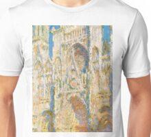 1894-Claude Monet-Rouen Cathedral, West Façade, Sunlight-65 x 100 Unisex T-Shirt