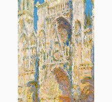 1894-Claude Monet-Rouen Cathedral, West Façade, Sunlight-65 x 100 Unisex T-Shirt