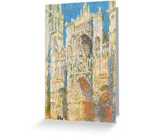1894-Claude Monet-Rouen Cathedral, West Façade, Sunlight-65 x 100 Greeting Card