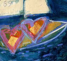 2 Hearts Boating as 1 by Gregory Burns