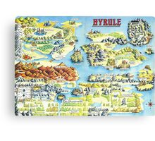Original Map of Hyrule Canvas Print