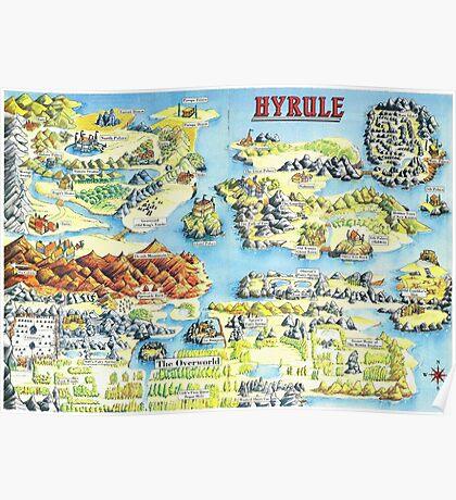 Original Map of Hyrule Poster