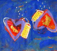 2 Hearts Diving as 1 by Gregory Burns