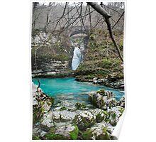 Waterfall on Kozjak River Poster