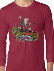 Bilbo and Gandalf Inspired Calvin And Hobbes Long Sleeve T-Shirt