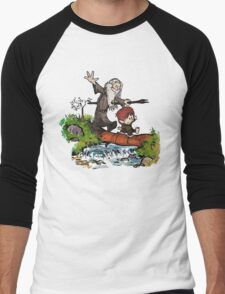 Bilbo and Gandalf Inspired Calvin And Hobbes Men's Baseball ¾ T-Shirt