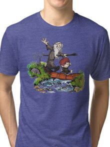 Bilbo and Gandalf Inspired Calvin And Hobbes Tri-blend T-Shirt
