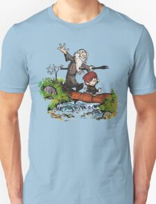 Bilbo and Gandalf Inspired Calvin And Hobbes T-Shirt