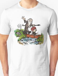 Bilbo and Gandalf Inspired Calvin And Hobbes Unisex T-Shirt
