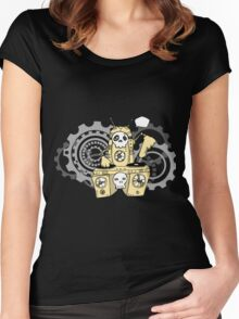 Skeleton Music Women's Fitted Scoop T-Shirt