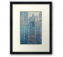 1894-Claude Monet-The Portal of Rouen Cathedral in Morning Light-65 x 100 Framed Print