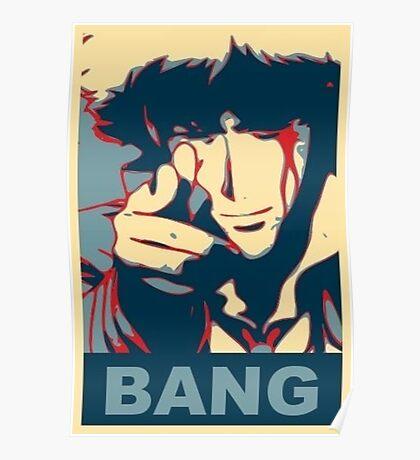 Cowboy Bebop - Bang - Spike Spiegel Poster