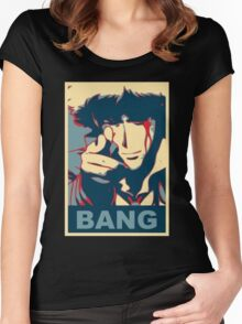 Cowboy Bebop - Bang - Spike Spiegel Women's Fitted Scoop T-Shirt