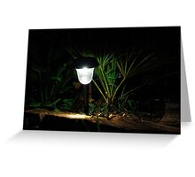 Garden Solar Light in the Dark Greeting Card
