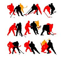 Hockey moments and players Photographic Print