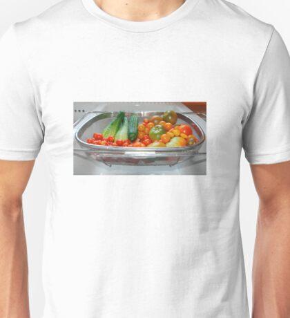 Tomato and Cucumber Harvest in Kitchen Sink Unisex T-Shirt