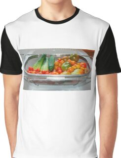 Tomato and Cucumber Harvest in Kitchen Sink Graphic T-Shirt