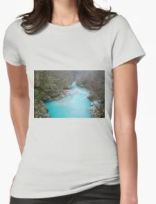Nadiza River Near Napoleon Bridge Womens Fitted T-Shirt