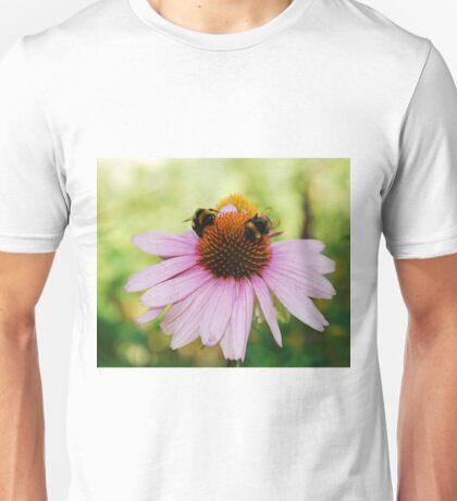 Echinacea Purpurea with Bees Unisex T-Shirt